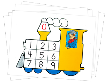 Number Train Cards