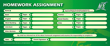 Homework Assignment Pad 50
