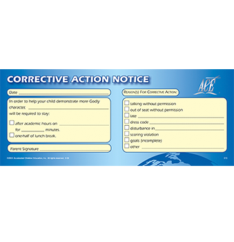 Corrective Action Notice Pad 50
