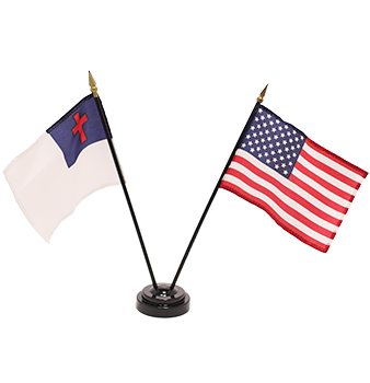 2 Flags and Stand Set