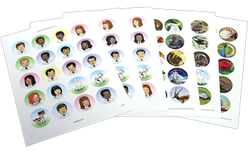 A.C.E. Character Stickers Pkg 6 Sheets