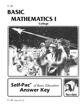 College Mathematics I Key 1-5