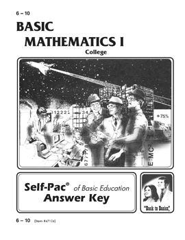 College Mathematics I Key 6-10