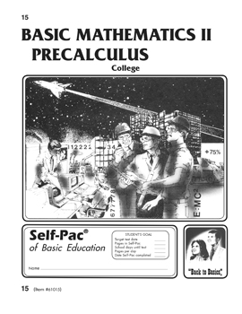 College Math Precalculus Self-Pac 15