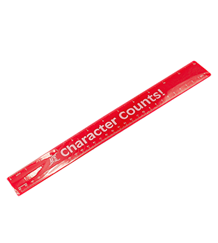 12-inch Ruler, Red