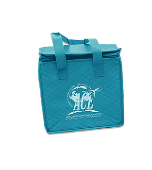 A.C.E. Logo Lunch Tote, Teal