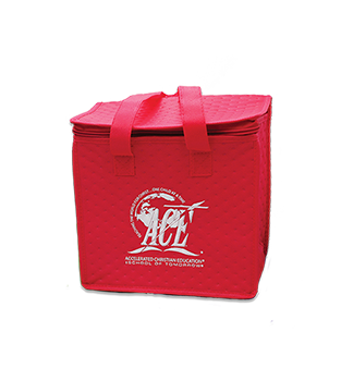 A.C.E. Logo Lunch Tote, Red