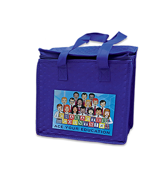 ACE Your Education Lunch Tote, Blue