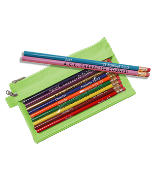 Pouch w/Pencil Set - Character Counts